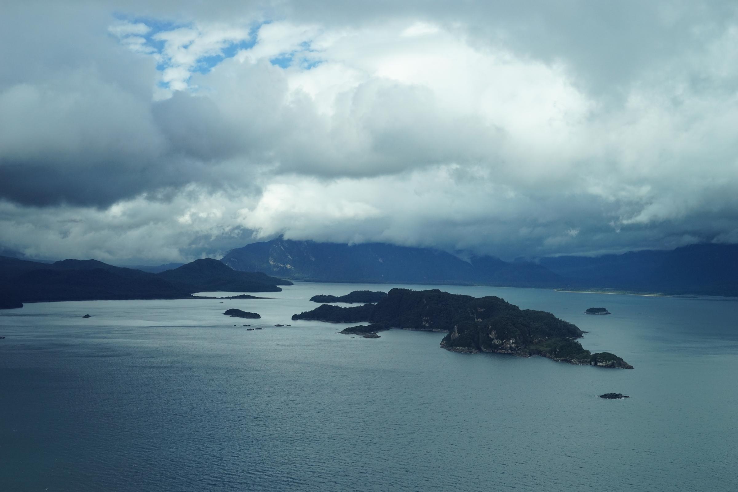 Blick auf den Golf von Corcovado in Südamerika